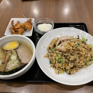 豚肉青菜炒飯セット
