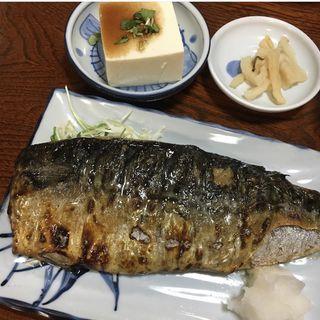 鯖の一枚焼き定食