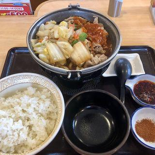 牛すき鍋定食(すき家 博多BP店 )