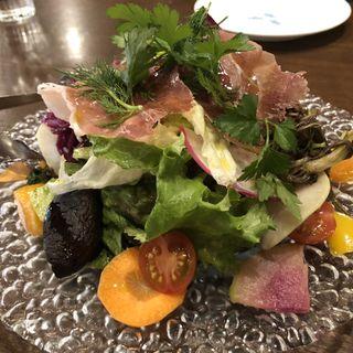 15種類の季節の野菜とハーブのイタリアンサラダ(ピッツェリア・パドリーノ・デル・ショーザン (PIZZERIA PADRINO DEL SHOZAN))