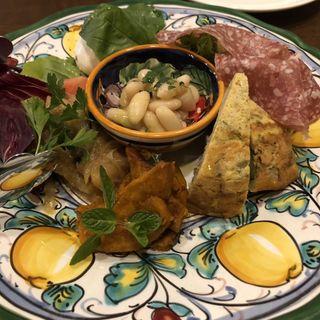 パドリーノおすすめ本日の前菜の盛り合わせ5種(ピッツェリア パドリーノ・デル・ショーザン)