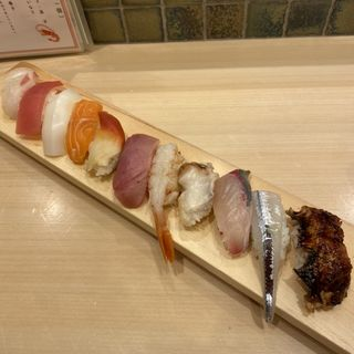 旬にぎり11種(福すし ホワイティ梅田店 )