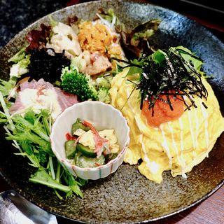 明太マヨオムライス(Cafe Pu-rin)