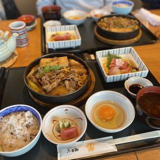 すきやき(国産牛ロース肉)~お昼のすきやき~