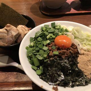 台湾混ぜそば全部入り(追い飯付)麺大盛