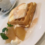 りんごワッフル ミニ(フルーツカフェ オレンジ (fruit cafe ORANGE))