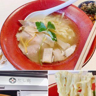 真鯛とマグロ節天然塩そば(だし廊BUSHI)