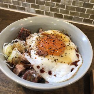 肉飯(自家製麺と定食 弦乃月)