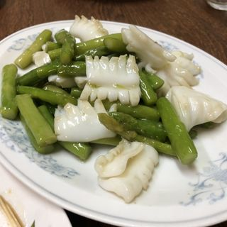 イカとアスパラの炒め物(ポパイ )