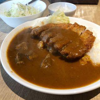 甘くて辛い大阪カレー(スパイスとんかつ付き)