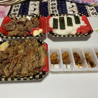 すたみな牛カルビ焼肉弁当 鶏の唐揚げ弁当(すたみな太郎 武庫川店 )