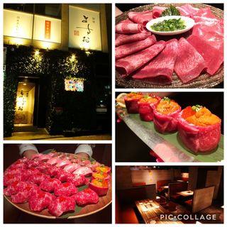 尾崎牛の寿司五種盛り合わせ