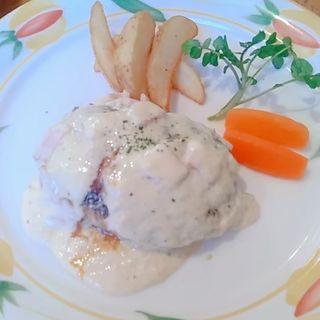 チーズハンバーグ(手作りハンバーグの店とくら新堀川店)