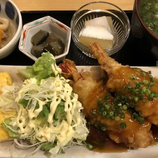 海老肉巻天ぷら