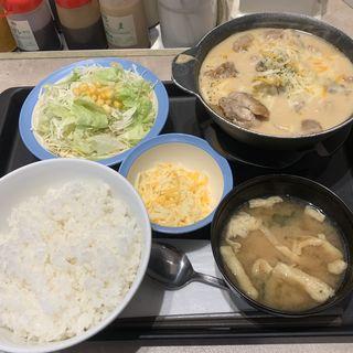 シュクメルリ鍋定食 チーズ増量