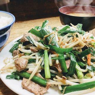 レバニラ炒め定食(こづち)