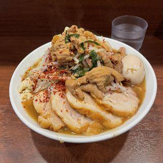 限定C もつ煮ラーメン+肉2枚(麺屋 づかちゃん)