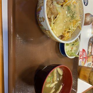 三種のチーズ牛丼(すき家 西国分寺駅前店 )
