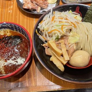 濃厚魚介赤味噌つけ麺+三田盛り(三田製麺所 阪神野田店)