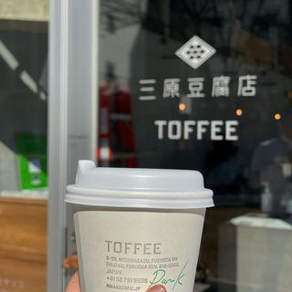 抹茶ラテ(toffee park 三原豆腐店)