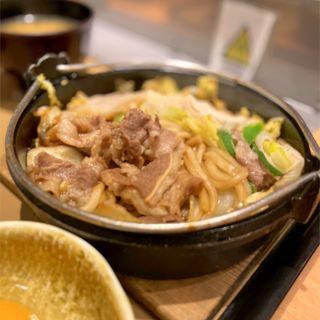 牛すき焼き定食(やよい軒 横手南店 )