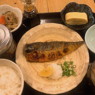 日替わり焼き魚定食+貝汁小