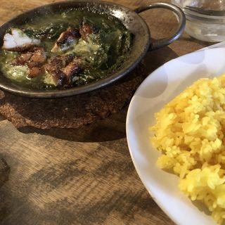 チキンカレー(ほうれん草)