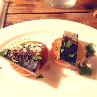 炙り鯖とじゃが芋のソテー