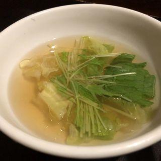 燻製オイルのスープ(記念日-食と酒と祝いの店-)