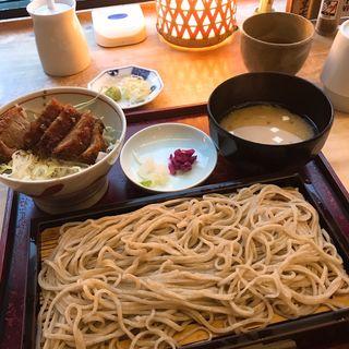 せいろとソースカツ丼 のセット(手打そば大庵 (だいあん))