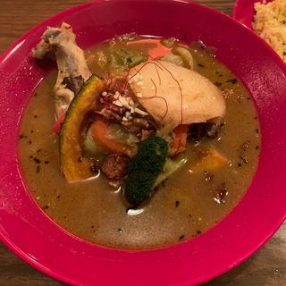 野菜とチキンレッグのスープカレー