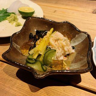 毛蟹と黄にらの酢の物(創和堂-sowado-)