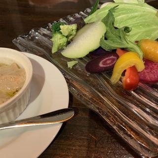 バーニャカウダーアンチョビソース(農家の野菜×創作料理 101 (ワンオーワン))