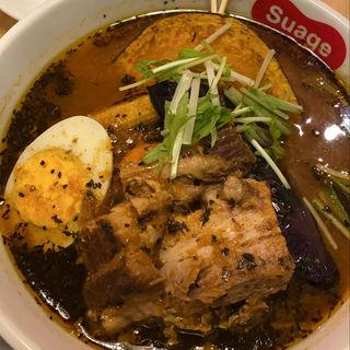 ラベンダーポークの炙り角煮カレー(北海道スープカレーSuage 渋谷店)