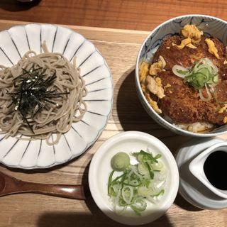 餡かけカツ丼とザル蕎麦(さいさきや)