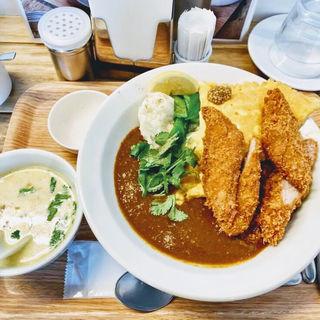 カツカレーハーフ(ブラウンオニオンカレーファクトリー (brown onion curry factory))