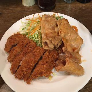 しょうが焼き+ヒレカツ定食(キッチン大正軒)