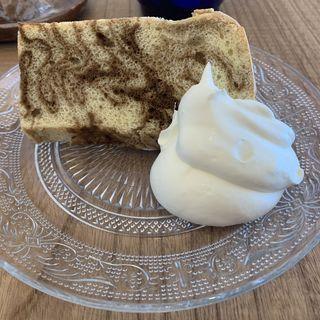 シフォンケーキ(コーヒーマーブル)(MINAMO CAFE)