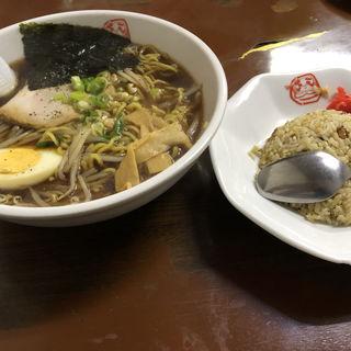 醤油ラーメン&ミニチャーハン(ラーメンだるまや 美唄店 )