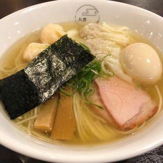 特製ワンタン麺 白だしハーフ(八雲)