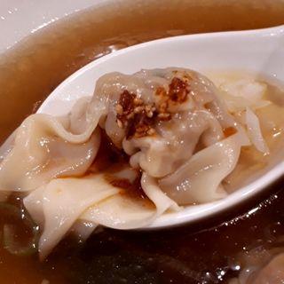 ランチセット ミニ雲呑麺とミニ焼豚丼(広州市場 大塚店 (コウシュウイチバ))