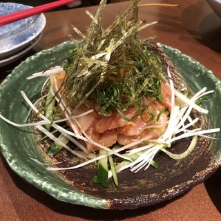 まぐろユッケ(akari dining)