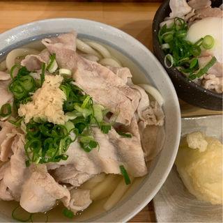 肉かけうどん(うどん甚三 (じんざ))