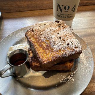ブリオッシュフレンチトースト、塩ホイップクリーム(No.4 )
