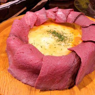 肉シカゴピザ(肉ろばた carne 梅田お初天神店)