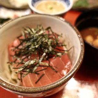 漬け魚の自然薯とろろ山かけご飯
