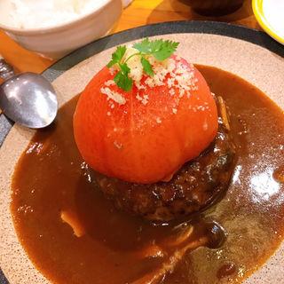 トマトのせハンバーグ(山本のハンバーグ 六本松店)