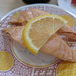 トロサーモンあぶり(回転寿司 豊魚)