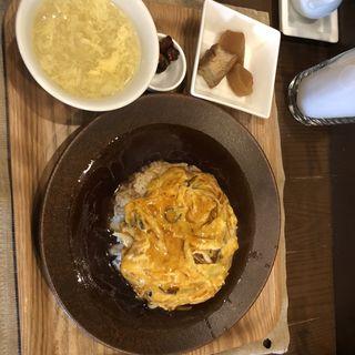 天津飯定食(杏仁荘 )