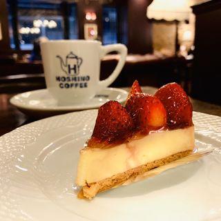 苺のレアチーズケーキ(星乃珈琲店 荻窪店 )